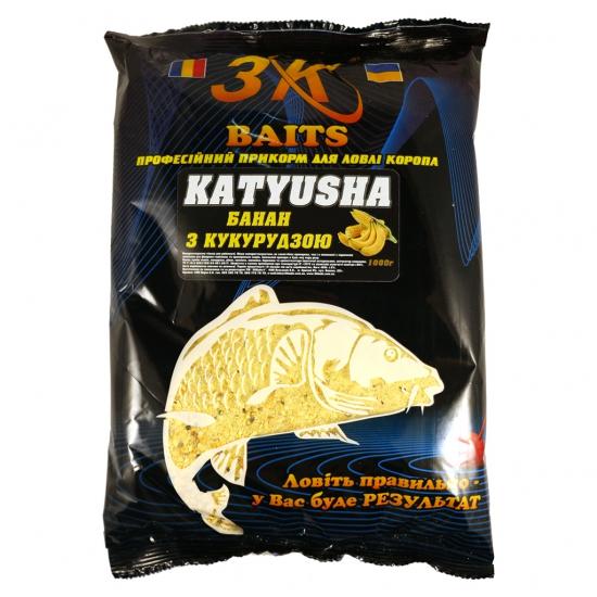 "Суха суміш ""KATYUSHA"" (кукурудза з бананом), 1000г | Інтернет-магазин «3KFisher»"