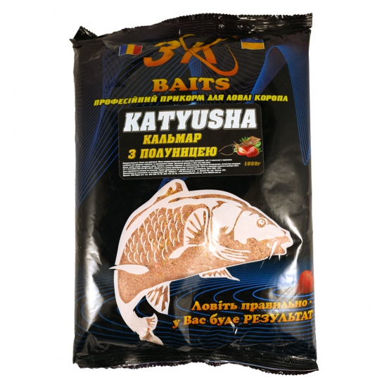 "Суха суміш ""KATYUSHA"" (кальмар з полуницею), 1000г | Інтернет-магазин «3KFisher»"