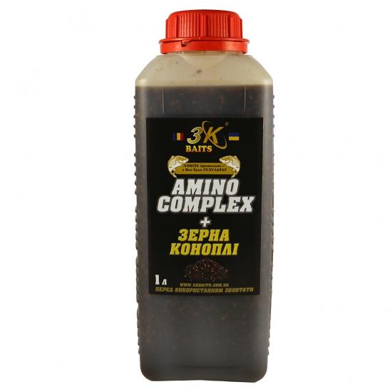 Зерна коноплі залиті в AminoComplex, 1000мл | Інтернет-магазин «3KFisher»