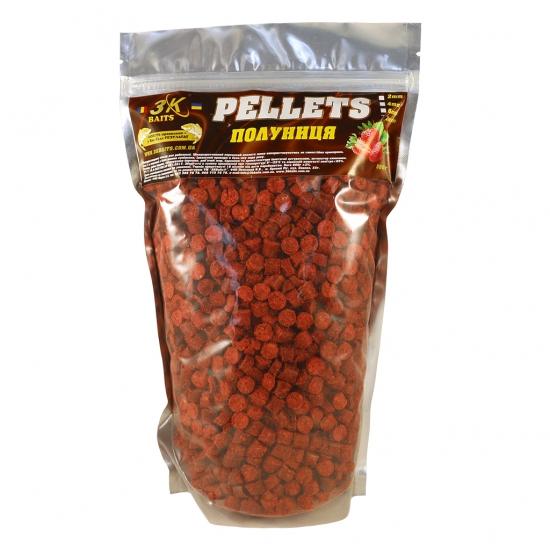 Pellets 8мм (полуниця) 0,8 кг | Інтернет-магазин «3KFisher»